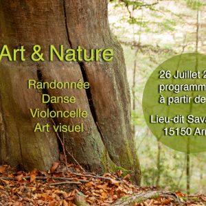 Journée Art et Nature en forêt de Savalaure à Arnac