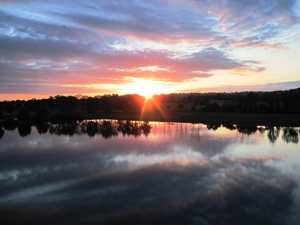 coucher de soleil sud cantal