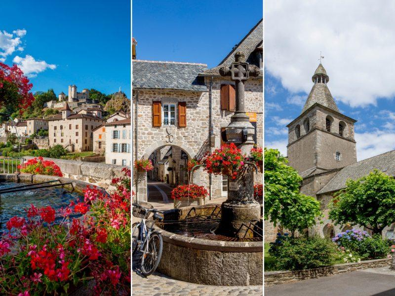 Les Petites Cités de Caractère en Châtaigneraie cantalienne : Laroquebrou, Marcolès, Montsalvy.
